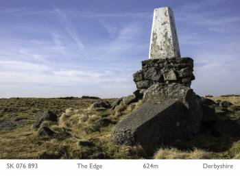 The trig point at The Edge