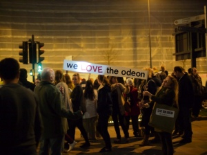 Photo of Bradford Odeon protest by P13 D