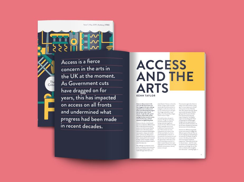 Images of critical fish pages Access and the Arts article